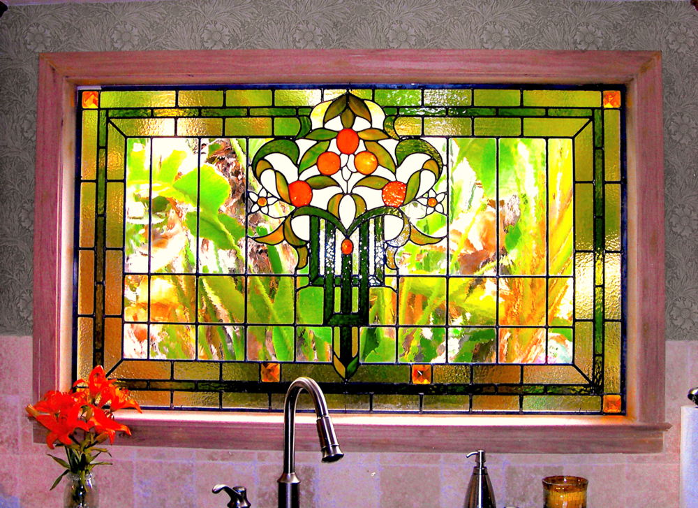 Kitchen Leaded Glass